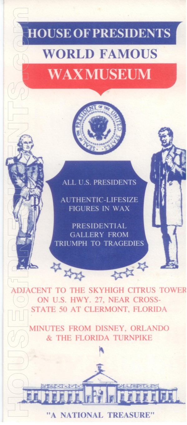 HOP House of Presidents Rack Card 002a