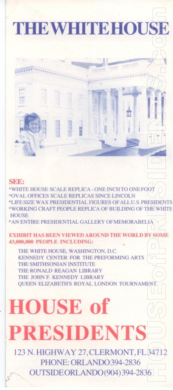 HOP House of Presidents Rack Card 002b