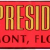 bumper sticker House of Presidents 1970s