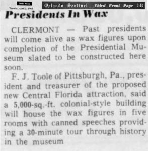 Presidents In Wax