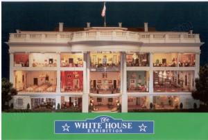 web 1992 POSTCARD White House Replica 001F WHR
