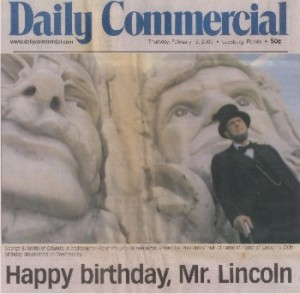 2009-02-12 DailyCommercial Happy Birthday Mr Lincoln Clermont FL sm PHOF