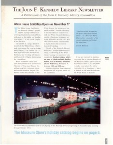 1992-10-01 NEWSLETTER JFK Library WHR