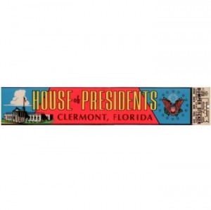 bumper sticker House of Presidents 1970s sm