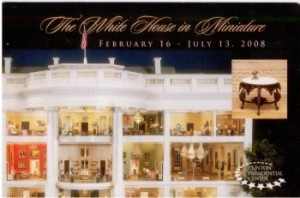 2008_02-16 POST CARD The White House in Miniature Clinton Library Little Rock AR 001a sm