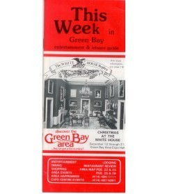 1986-12-12,21 RACK BROCHURE Christmas at the WHITE HOUSE Green Bay Expo Center WI cover small WHR