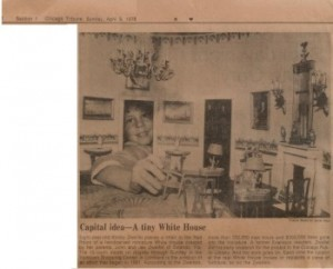1978-04-09 Capital  idea - A tiny White House chicago tribune sm WHR